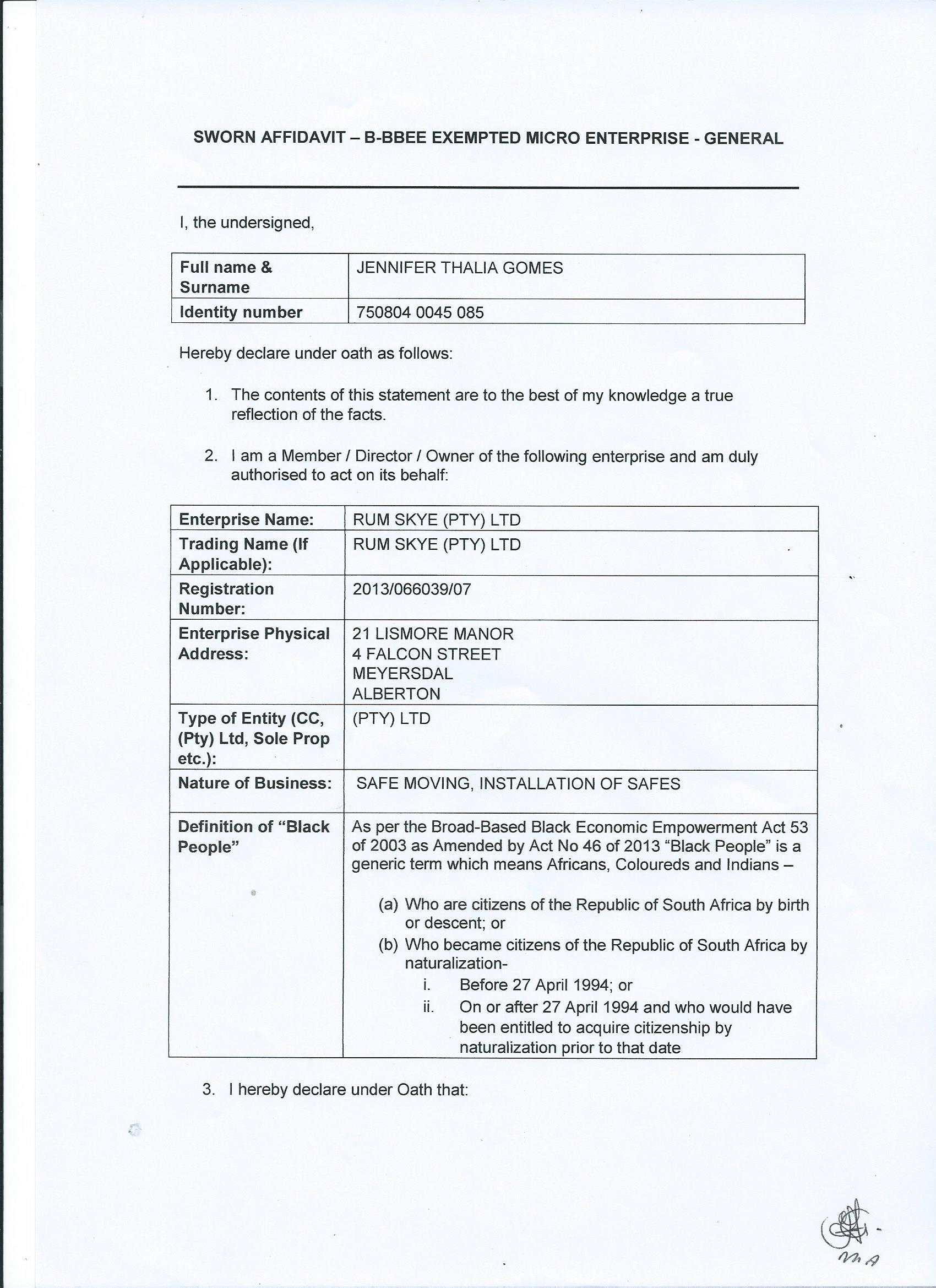 Birth Certificate Affidavit By Parents Sample Gallery
